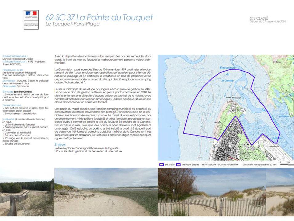 document sur les zones protégées de la course Trail des 2 baies