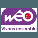 logo Weo TV partenaire du trail des 2 baies