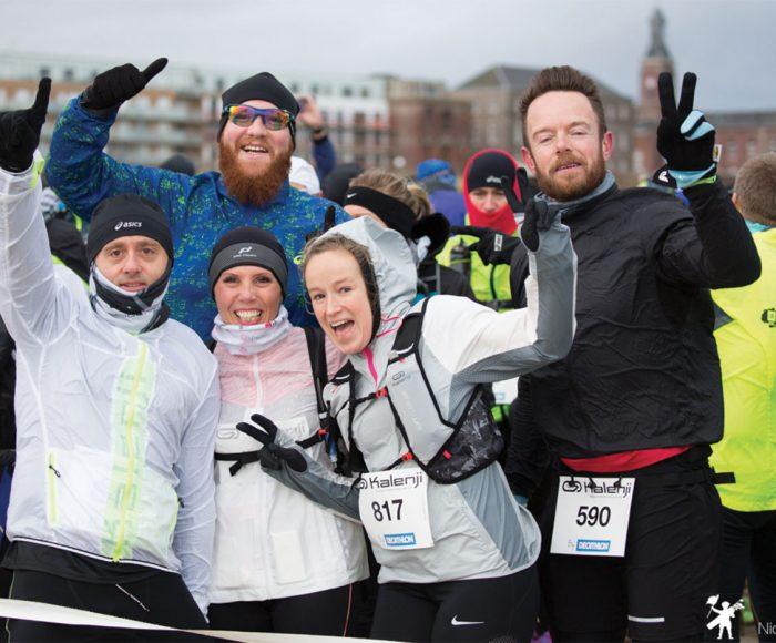 équipe du trail d2b avant le départ de la course